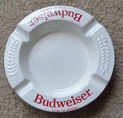 Vintage Haeger Budweiser The King of BeersGlass  China Ashtray