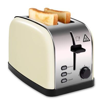 2 Slice Wide Slot Toaster Black for Bread Bagel, Brushed Stainless Steel Toaster