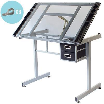 Stationery Island Adjustable Drafting Drawing Craft Table Art Glass Desk Dunbar