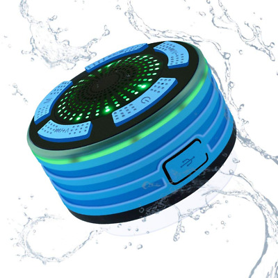 Wireless Bluetooth Speaker, Waterproof Portable FM Radio LED Lights, HD Sound US