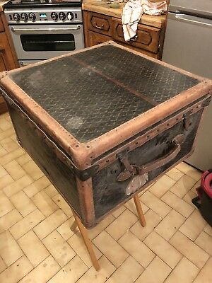 Antique Goyard Paris Steamer travel Trunk Please look at pictures
