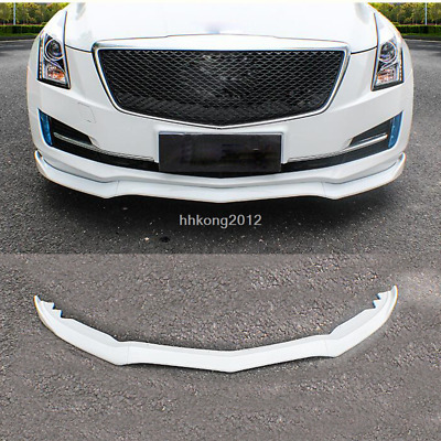 FIT For Cadillac ATS 2015-2018 ABS Front Bumper Molding Cover Trim White 3PCS