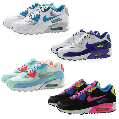 Nike 724852 Kids Youth Boys Girls Air Max 90 Low Top Running Shoes Sneakers