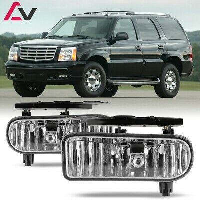 For Cadillac Escalade 02-06 Clear Lens Pair Bumper Fog Light Lamp OE Replacement