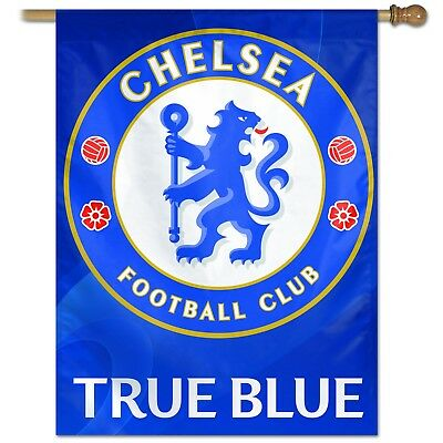 CHELSEA FC TEAM CREST BANNER OFFICIALLY LICENSED 27 inches x 37 inches