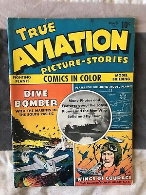 1943 True Aviation Pictures-Stories #6 VG+ to -FI (4.5-5.0) condition