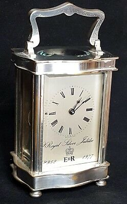 Silver Jubilee Carriage Clock