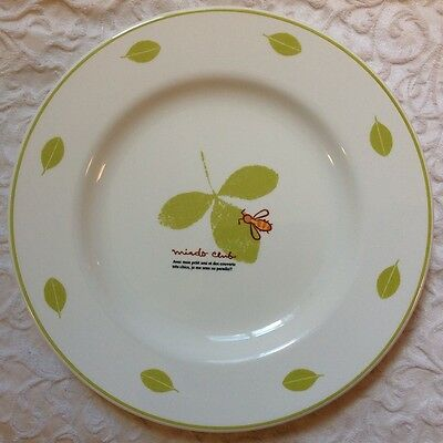 Vtg Mister Donut Miado Club Bee Leaf Collectible Plate Pottery Restaurant Ware