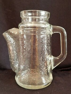 Vintage WMF crystal waved glass jug