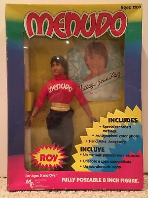"VINTAGE 1983 MENUDO 8"" ROY FIGURE DOLL New in Box RARE 1980s VTG Collectible Toy"