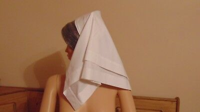 Qaimns Veil With Inner Cap Reproduction For Ww1 Ww2  Re-Enactment Theatre