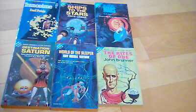 Lot of 17 Vintage Ace Double Science Fiction 60's Books Good Condition Brunner