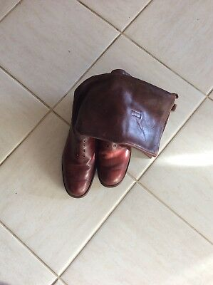 Antique Mens Riding Boots Size 9