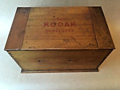 Vintage Kodak Developing Tank wooden Box Film. Photography Equipment