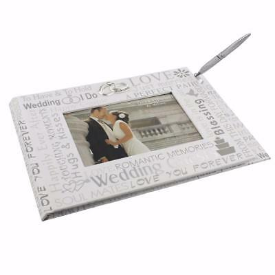 "Wedding Day Gift Reception  Bride and Groom  ""Mr and Mrs"" Guest Book and Pen"