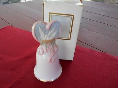 "Avon Fine Collectibles ""love's Beginnings"" Porcelain 1995 Bell - New In Box"