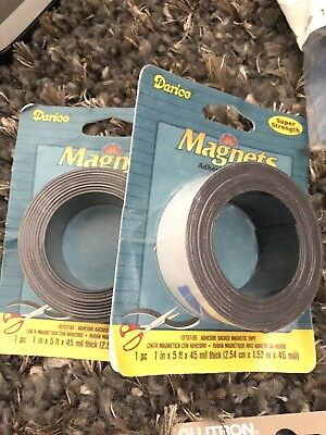2 Pack - Home & Kitchen Features Sticky Back Magnet Roll Super Strength 5ft Long