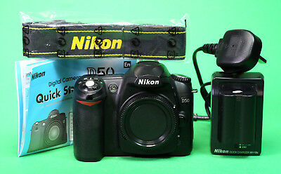 Nikon D50 Digital SLR Camera Body, Battery & Charger + Strap + Quick Start Guide