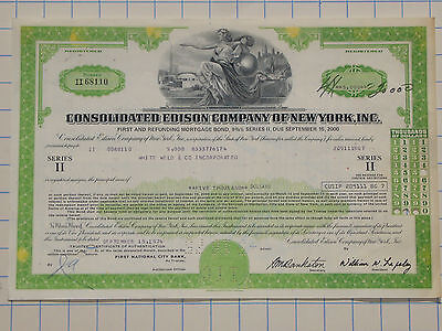 ALTES ANLEIHEPAPIER EDISON CO. INC. NEW YORK von 1974