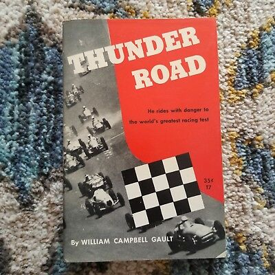 Thunder Road by William Campbell Gault, Vintage Paperback 1952 Indy 500 Racecar
