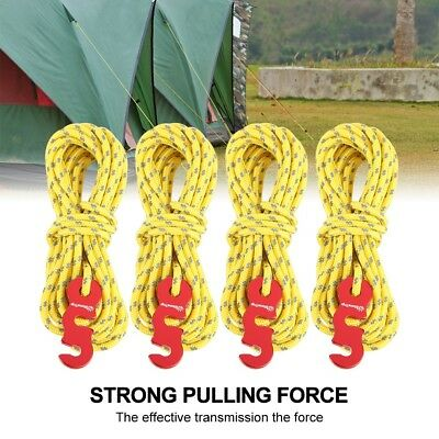 3mm Reflective thickened Camping Tarp Tent Line Paracord & Wind Rope Runners
