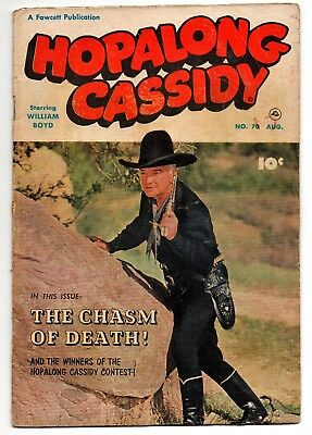 Comic book HOPALONG CASSIDY 70 William Boyd photo cover 10-cent 1952 tv western