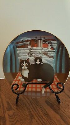 """WINTER """"EYES OF THE SEASONS"""" limited edition collector's plate by Steven Klein"""