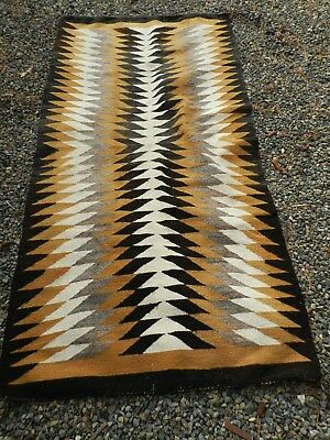 X-Large ,heavy Weave,navajo,native ,wool Rug,42 1/2 Inch,x,85 Inch,old