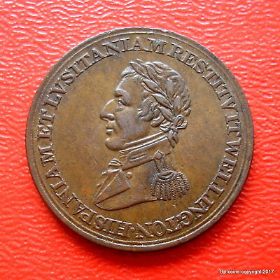 1812 Wellington  Peninsular Wars Half Penny Token
