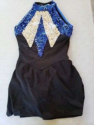 Algy Metallic Sequins Drill Team Ice Skating Dance Dress, Size Adult Large