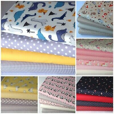 100% cotton fabric Fat Quarter Bundle quilting patchwork craft CHILDREN BABY C