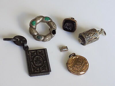Job Lot of Antique Victorian Silver Rolled Gold Vulcanite jewellery