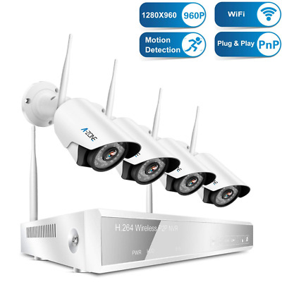 Wireless Security Camera System,4Pcs HD WiFi IP Cameras,65ft Night Vision NEW US