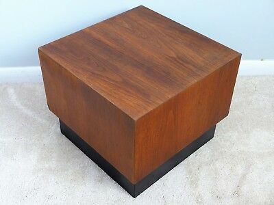 Adrian Pearsall Cube Table Craft Associates Black Plinth Base End Mid Century