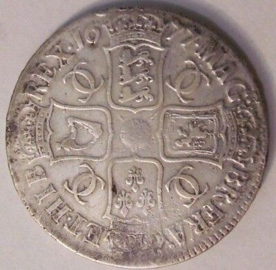 GREAT BRITAIN UK Crown 1677 Charles II silver genuine / beautiful / RARE