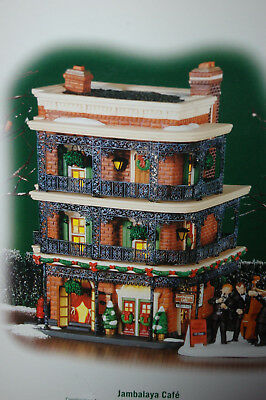 """New Dept 56 Christmas In The City """"jambalaya Cafe"""" Retired Lighted Building"""
