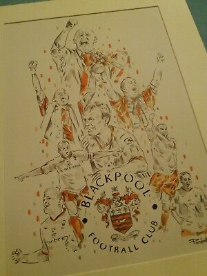 Blackpool FC Wembley 2010 Print