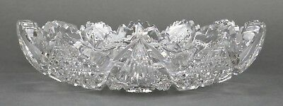 Fine Antique AMERICAN BRILLIANT Cut Crystal ABP Open Flat Round Bowl 19th 1