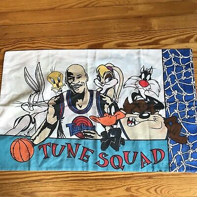 1996 Warner Bros. Michael Jordan Space Jam Tune Squad/monstars Pillow Case