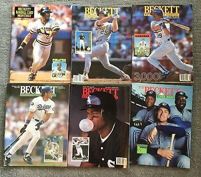 Lot of 13 Classic,Vintage Beckett Baseball Card Monthly Magazines From The 1990s