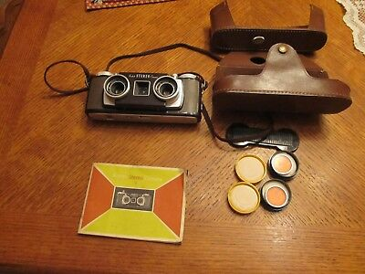 Kodak Stero Camera with case, instructions   (Untested, As Is)