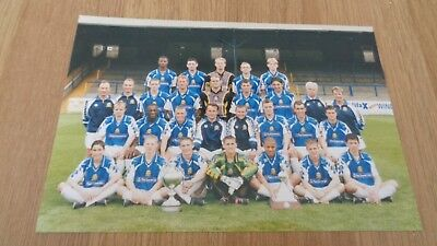 Postcard size colour photograph of Halifax Town F.C Squad 1998/1999 Season