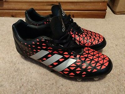Adidas Kakari Elite SG Mens Rugby Boots - Black and Red Sz.8.5
