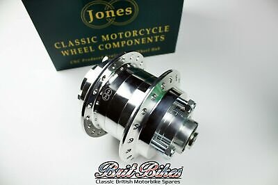 Genuine Jones CNC Complete Rear Hub Assembly - Triumph T140 Bonneville TR7 Tiger