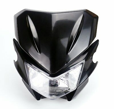 Universal Street Fighter Dirt Bike Fairing Headlight Head Lamp For Honda Suzuki
