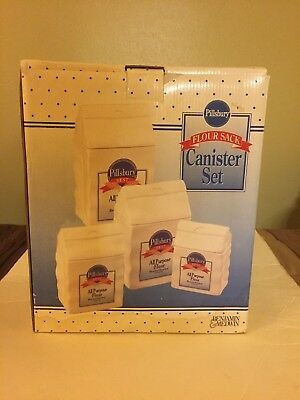 Pillsbury Best Flour Sack Canister Set by Benjamin and Medwin NEW IN BOX!!
