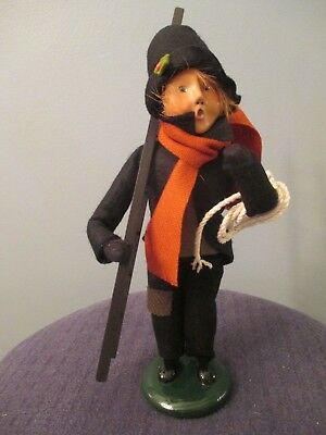 2007 Byer's Choice Carolers Chimney Sweep Boy with Ladder and Rope