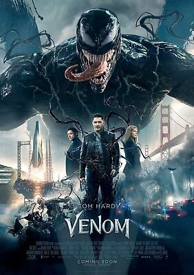 "Venom Movie Poster Tom Hardy 2018 Marvel New HQ Art Print 14×21"" 27×40"" 48×32"""
