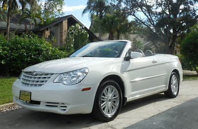 2008 Chrysler Sebring TOURING RARE GORGEOUS WHITE CONVERTIBLE~54k MILES BRAND NEW TIRES~FLAWLESS POWER TOP~OUR NICEST TO DATE~WHITE~09