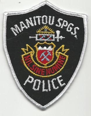 Manitou Springs COLORADO CO Police patch Old